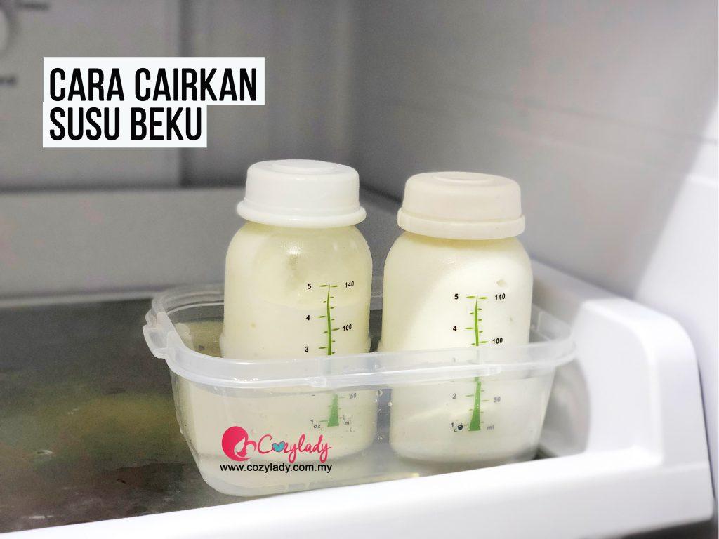 Cara cairkan susu beku